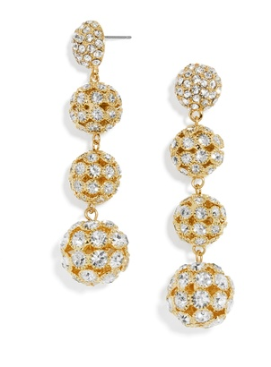 Disco Crispin Ball Drop Earrings $48 thestylecure.com