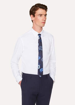 Paul Smith Men's Slim-Fit Shirt With 'Athletics' Print Cuff Lining