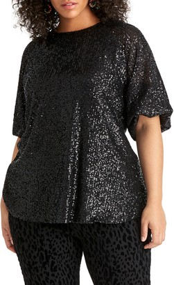 Rachel Roy Drea Sequin Top