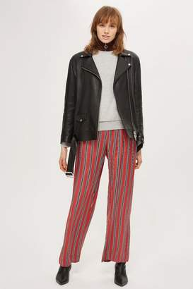 Topshop Striped slouch pants
