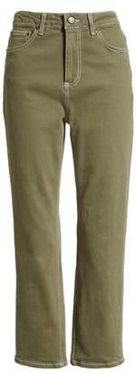 Topshop Wide Leg Crop Utility Jeans