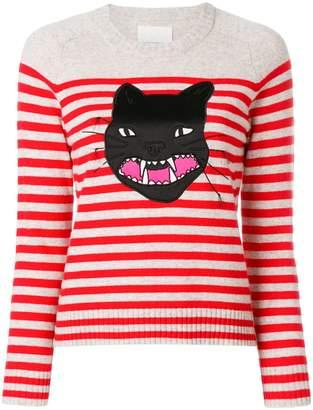 Zadig & Voltaire Lilo striped cat jumper