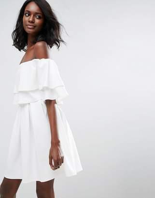ASOS Ruffle Off Shoulder Mini Dress $56 thestylecure.com