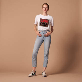 Sandro High-waisted washed jeans