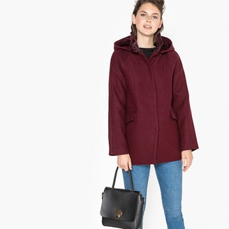 La Redoute COLLECTIONS Hooded Wool Blend Coat