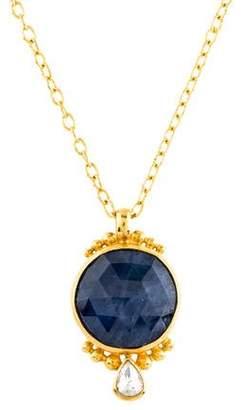 Gurhan 24K Sapphire & Diamond Pendant Necklace