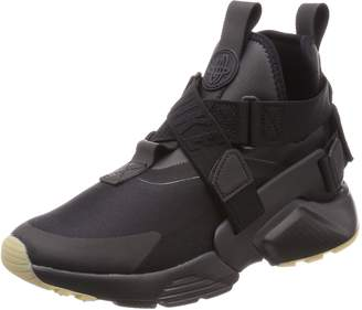 Nike Women's Air Huarache City Black/Black/Dark Grey Running Shoe 8.5 Women US