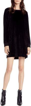 Michael Stars Velvet Sweatshirt Dress