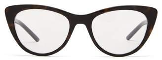 Prada Cat Eye Acetate Optical Glasses - Womens - Tortoiseshell