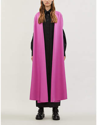 Valentino Open-front wool and cashmere-blend coat