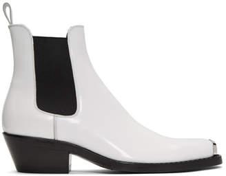 Calvin Klein White Western Chris Chelsea Boots