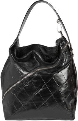 Proenza Schouler Asymmetrical Zip Embossed Hobo Bag