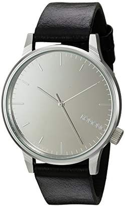 Komono ' Winston' Quartz Stainless Steel and Leather Dress Watch
