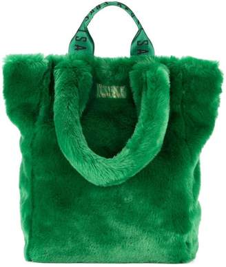 Unreal Fur Tzippy wide tote