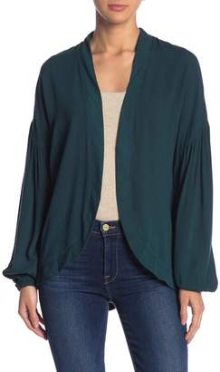 Blu Pepper Open-Front Embroidered Jacket