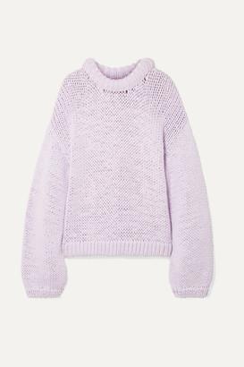 Tibi Oversized Cotton-blend Sweater - Lilac