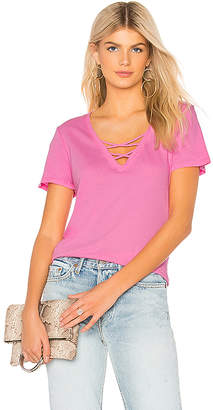 Bobi Light Weight Jersey Strappy V Neck Tee