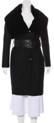 Giuliana Teso Knee-Length Wool Coat w/ Tags