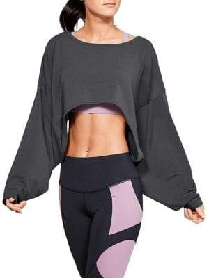 Under Armour Perpetual Long-Sleeve Cropped Top