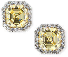 FANTASIA Canary Cubic Zirconia Stud Earrings