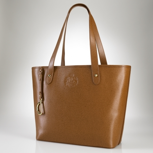 Ralph Lauren Newbury Leather Classic Tote
