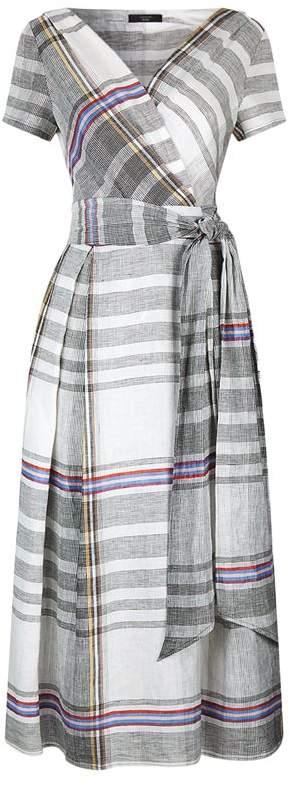 Linen Midi Wrap Dress