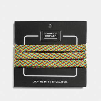 Coach Neon Multi Shoe Laces