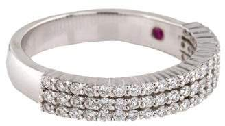 Roberto Coin 18K Diamond Three-Row Band