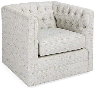 Michael Thomas Collection Beaumont Swivel Club Chair - Frost