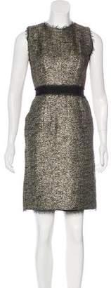 Milly Metallic Sheath Dress