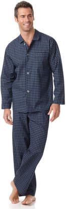 Club Room Men's Navy Check Shirt and Pants Pajama Set