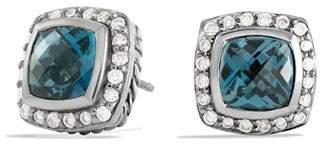 David Yurman Petite Albion Earrings with Hampton Blue Topaz & Diamonds