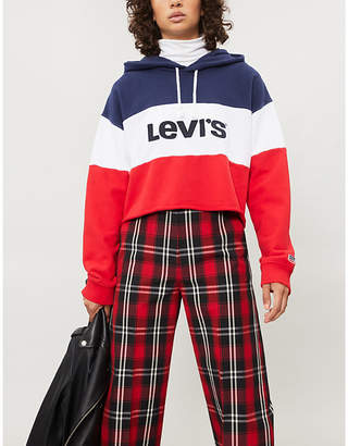 Levi's Logo-front cotton-jersey hoody