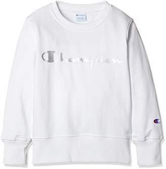 Champion (チャンピオン) - [チャンピオン] プリント スウェットシャツ CS4759 ボーイズ オフホワイト 日本 100 (日本サイズ100 相当)