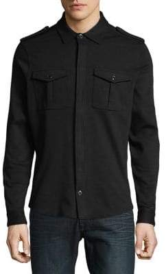 Michael Kors Long-Sleeve Zip Shirt