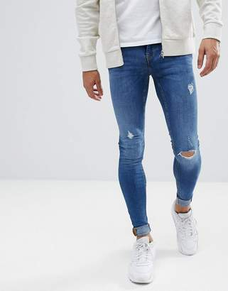 Blend of America flurry mid wash extreme skinny jeans