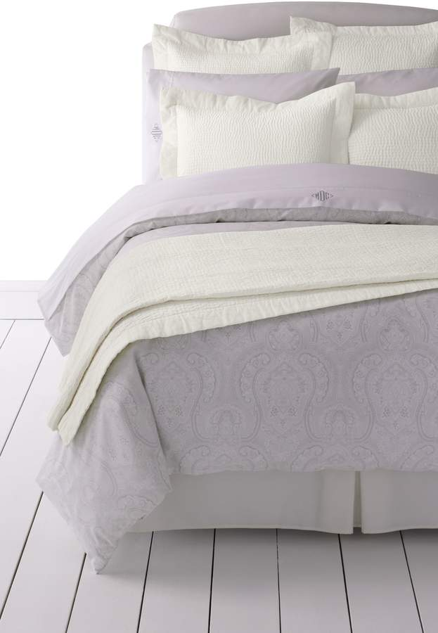 Lands'end Cotton-Silk Channel Stitched Quilt
