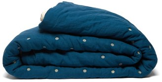 Once Milano - Double Sided Crushed Linen Quilt - Blue