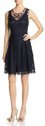 Elie Tahari Jessy Embroidered Mesh Dress