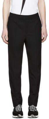 Neil Barrett Black Half Elastic Waistband Trousers