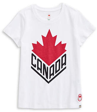 CANADIAN OLYMPIC TEAM COLLECTION Toddler Girls Canada Wordmark Core Tee