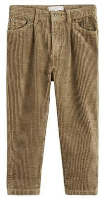 MANGO High-waist corduroy trousers