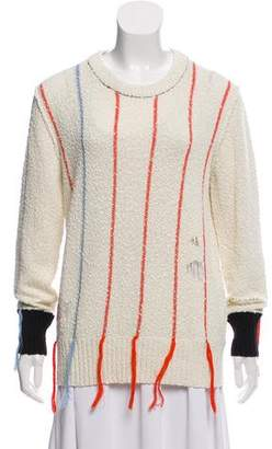 Raquel Allegra Distressed Striped Knit Sweater w/ Tags