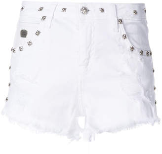 John Richmond studded denim shorts