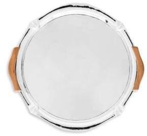 "Juliska Kensington 16"" Handled Metal Platter"
