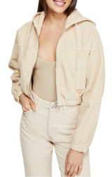 BDG Urban Outfitters Corduroy Crop Hooded Jacket