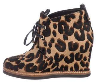 Louis Vuitton Ponyhair Wedge Ankle Boots