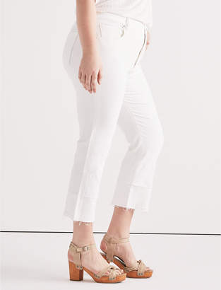 Lucky Brand Plus Emma Mini Boot Jean in Clean White