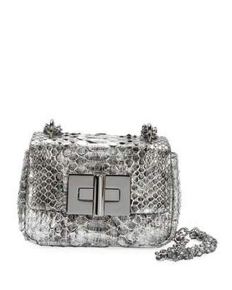 Tom Ford Natalia Laminated Python Mini Shoulder Bag