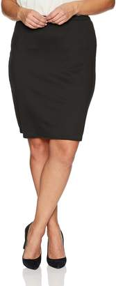 Star Vixen Women's Plus-Size Knee Length Classic Stretch Pencil Skirt